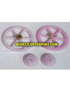 Huajun W908-1-09 Gear Set for Huajun W908-1 Helicopter Parts